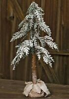24quot; Snowy Alpine Tree w Cones with Burlap Base Primitive Country