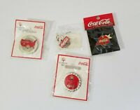 Coca Cola pin lot of 4 salt lake 2002 Olympics nice