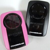 Chamberlain Clicker Lot 2 Universal Remote Control Garage Door Hot Pink w Clips $24.99