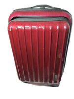 Adrienne Vittadini Luggage 21quot; Carry On Suitcase Spinner Lightweight Maroon