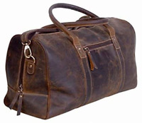 Leather Travel Duffel Bags for Men and Women Full Grain Leather Overnight Weeken