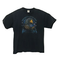 Vintage Brothers in the Wind Shirt Mens XL Graphic Tee Freedoms Never Free Black