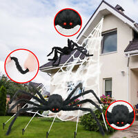Huge Giant Large Outdoor Yard 5 Rope Spider Web Halloween Scary Spooky Decor USA $16.90