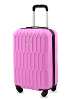 Honeycomb 20 in. Carry On Expandable Spinner Suitcase Luggage Pink