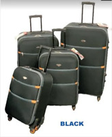 Alta Luggage 20quot; Spinner 4 wheel Expandable Suitcase Carry On Travel Bag Black