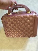 New Triforce Rose Gold 12quot; hard sided beauty case travel suitcase lightweight
