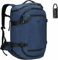 Hynes Eagle 45L Travel Backpack Airline Approved Carry on Luggage Bag Blue Gray