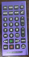 Living Solutions Jumbo Universal Remote Control XL Large Buttons Purple $15.00