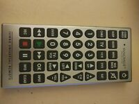 Innovage Jumbo Universal Remote Control Large Easy to Read Buttons. Silver. $6.00