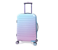 iFLY Fibertech Spinner Hardside Luggage 20 Inch Carry On Cotton Candy
