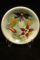 MOORCROFT CHINA SHALLOW BOWL / DISH  MINT COND. RARE