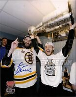 Zdeno Chara Boston Bruins Signed Stanley Cup Locker Room 16x20 Campbell w Cup