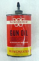 WINCHESTER GUN OIL EMPTY TIN CAN