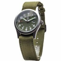 New Smith & Wesson Military OD Green Face Quartz Wrist Watch w/3 Bands