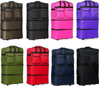 40quot; XXL Expandable Rolling Duffel Bag Wheeled Spinner Suitcase Luggage