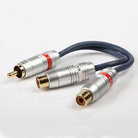 1 RCA Male To 2 Female Splitter Stereo Audio Y RCA Adapter $8.88