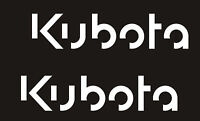 D#. 2 KUBOTA TRACTOR Vinyl Decals Stickers O WHITE 2 quot; X 9quot; EACH