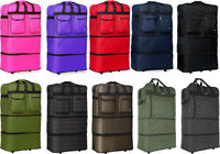 30quot; 36quot; 40quot; Expandable Rolling Duffel Bag Wheeled Spinner Suitcase Luggage
