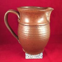 Contemporary Large Glazed Pinched Spout Pitcher