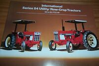 INTERNATIONAL SERIES 84 TRACTOR LITERATURE white stripe
