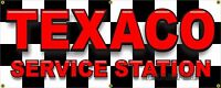 GAS STATION TEXACO STYLE BANNER LETTERING SIGN GARAGE LARGE 2' X 5' 24
