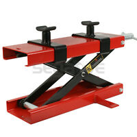 Motorcycle Scissor Lift Jack Hoist Stand Bikes ATVs Scooter Crank Stand 1100 LB