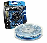 Pure Fishing SS65BC-1500 SpiderWire Stealth Blue Camo Braid- Choose SZ/Color.