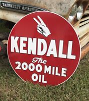 Antique Vintage Old Style 22quot; Kendall Motor Oil Sign