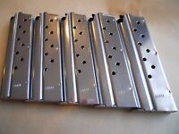 1911 ,  9 mm mag, magazine,mags, 5 mags,9 shot, stainless. USA, GREAT DEAL