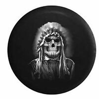 Spare Tire Cover Painted Face Skull American Indian Native Chief for SUV or RV