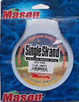 FREE USA SHIPPING....BULK SINGLE STRAND STAINLESS STEEL 105 LB LEADER WIRE