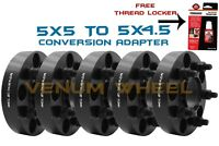 5pc Jeep Conversion Adapter 1.25quot; Converts New Wheels 5x5 To 5x4.5 Old Wheels