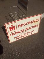 Vintage International Harvester Tractor Equipment Metal Sign 24X16 Farm Pig Cow