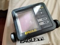 EAGLE USA SUPRA I.D. PORTABLE FISH FINDER DEPTH SONAR HEAD UNIT ONLY • FREE SHIP