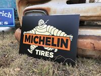 Antique Vintage Old Style Michelin Man Tires Sign