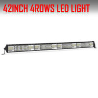 40 Inch 580W LED Light Bar Quad Row Offroad For Jeep ATV Track Boat Pickup Truck