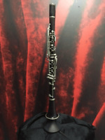 USED NORMANDY MADE IN FRANCE WOOD CLARINET W/ CASE