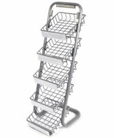 Tray Metal Display Rack Product Sign Display Plaque 5 Five Shelves