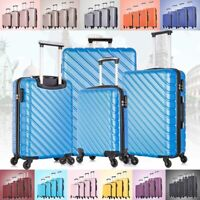 3 & 4  Piece Hardcase Luggage Set Travel Bag Trolley Spinner Suitcase ABS wLock