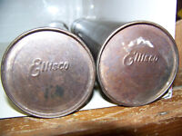 2 Vintage Ellisco Stainless Pipette Sterilization Boxes Great Patina H=16.5