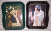LOT of 2 Coca-Cola Trays 1925-1973 Advertisement, Drink Coca~Cola in Bottles