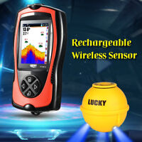 Lucky 147Feet 45M Wireless Sonar Rechargeable Fish Finder + Fish Attractive Lamp