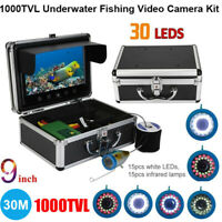 9inch Color Screen 30 LED Rotating Camera Underwater Fishing Video Camera 30m SS