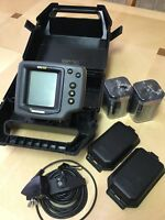 Humminbird 100SX Portable Fishfinder with Transducer, Case & 6V New Batteries