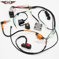 Complete Electrics Wiring Harness Loom CDI Coil For ATV QUAD 150/200/250/300CC