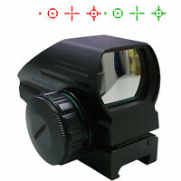 Dual Illuminated Tactical Holographic Red Green Reflex Scope sight 4 Reticles
