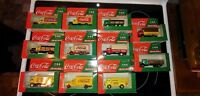 COCA COLA 1:64 SCALE TOY TRUCK LOT OF 11