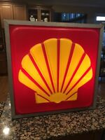 Vintage Shell Gas Station Lighted Sign
