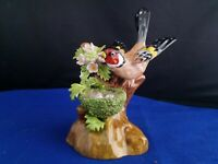 crown staffordshire J. T. Jones; Goldfinch Bird Nest Figurine 4 1/2