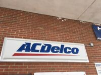 AC DELCO LIGHT UP SERVICE SIGN 9 1/2 Feet By 2'
